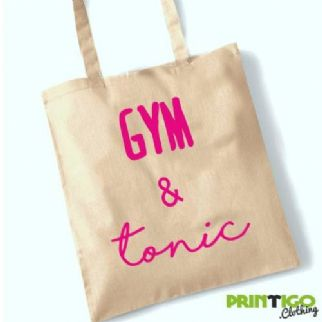 Gym & tonic, Tote Bag